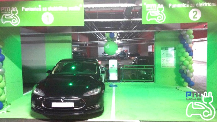 PARKING TIM opened the first filling station for electric vehicles in the city of Rijeka in the garage Zagrad