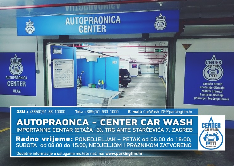 Otvorena profesionalna ručna Autopraonica – Center Car Washu centru Zagreba