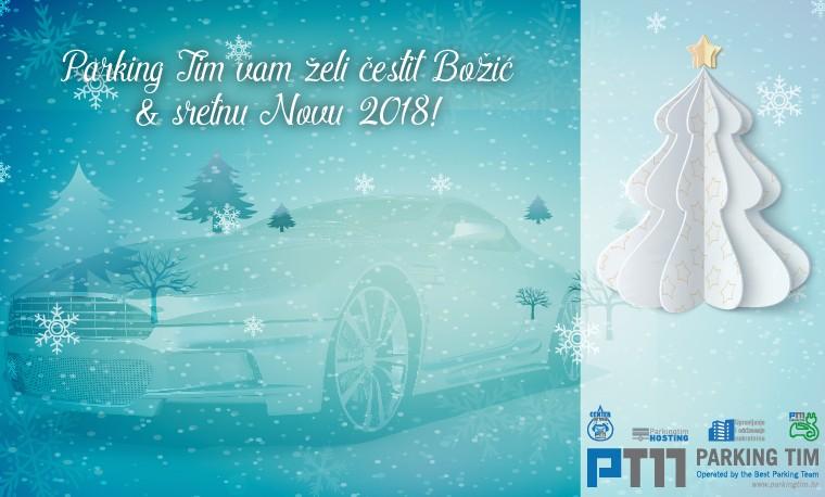 PARKING TIM vam želi sretan Božić i uspješnu Novu 2018.