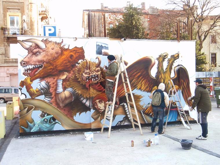 Oslikavanje Grafitima: Projekt Galerija Garaže Rijeka